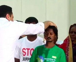 Indian man healed from cancer in face